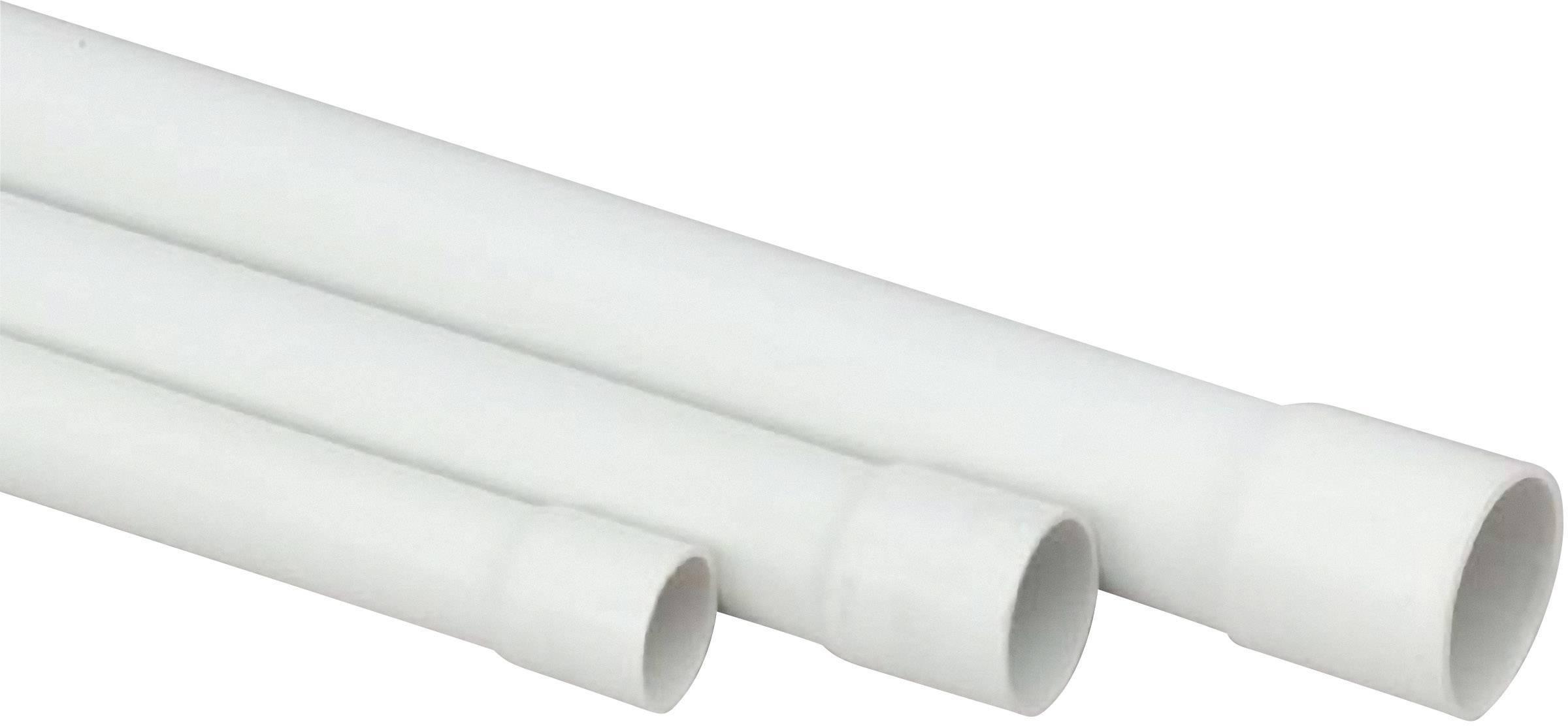 Izolační pevná trubka pro instalaci vedení Heidemann PVC EN20, 13007, 2 m, šedá