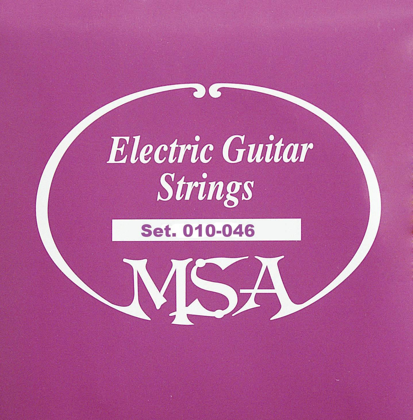Struny na elektrickou kytaru MSA, 009 - 042