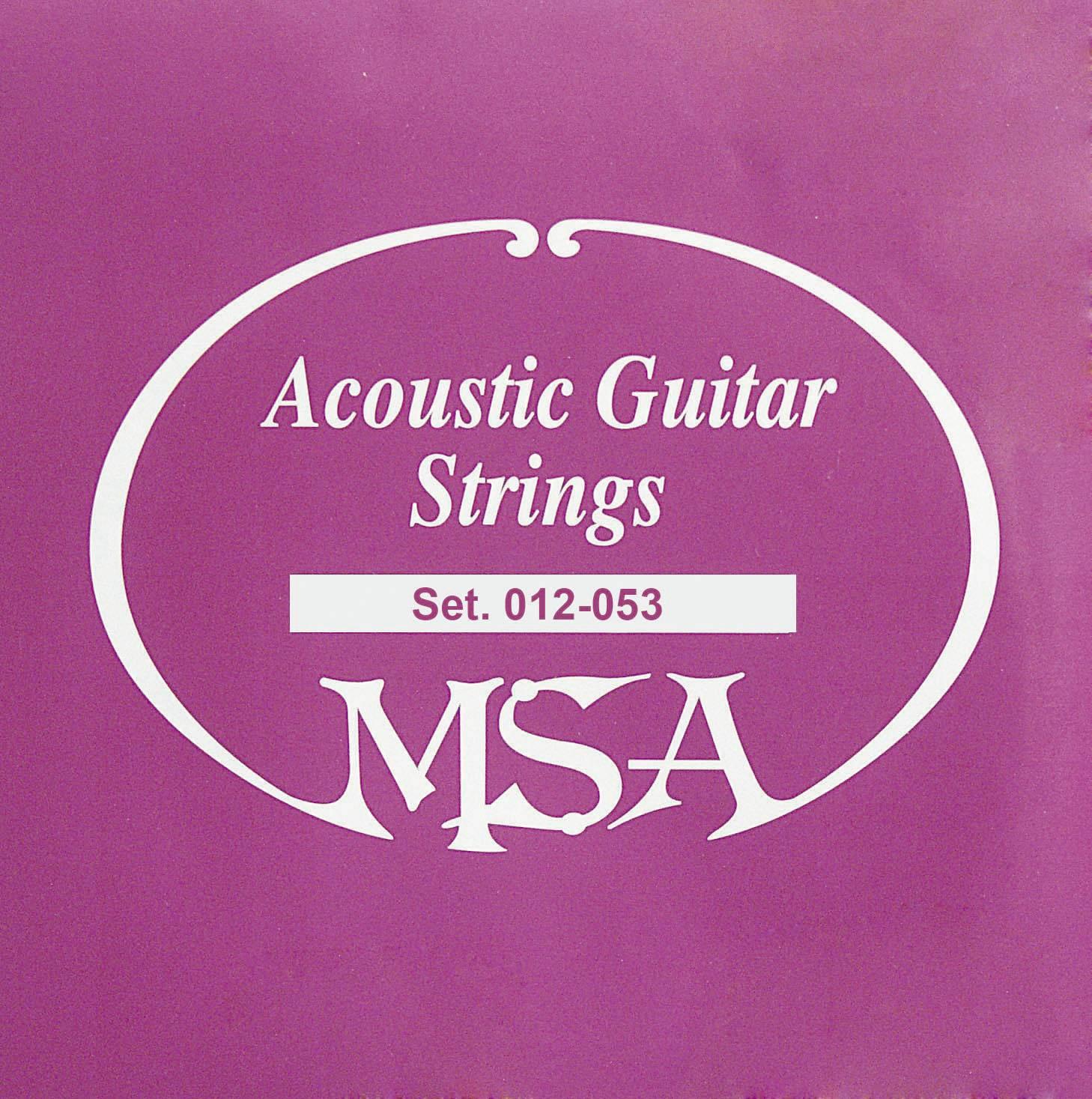 Struny na akustickou kytaru MSA, 012 - 053