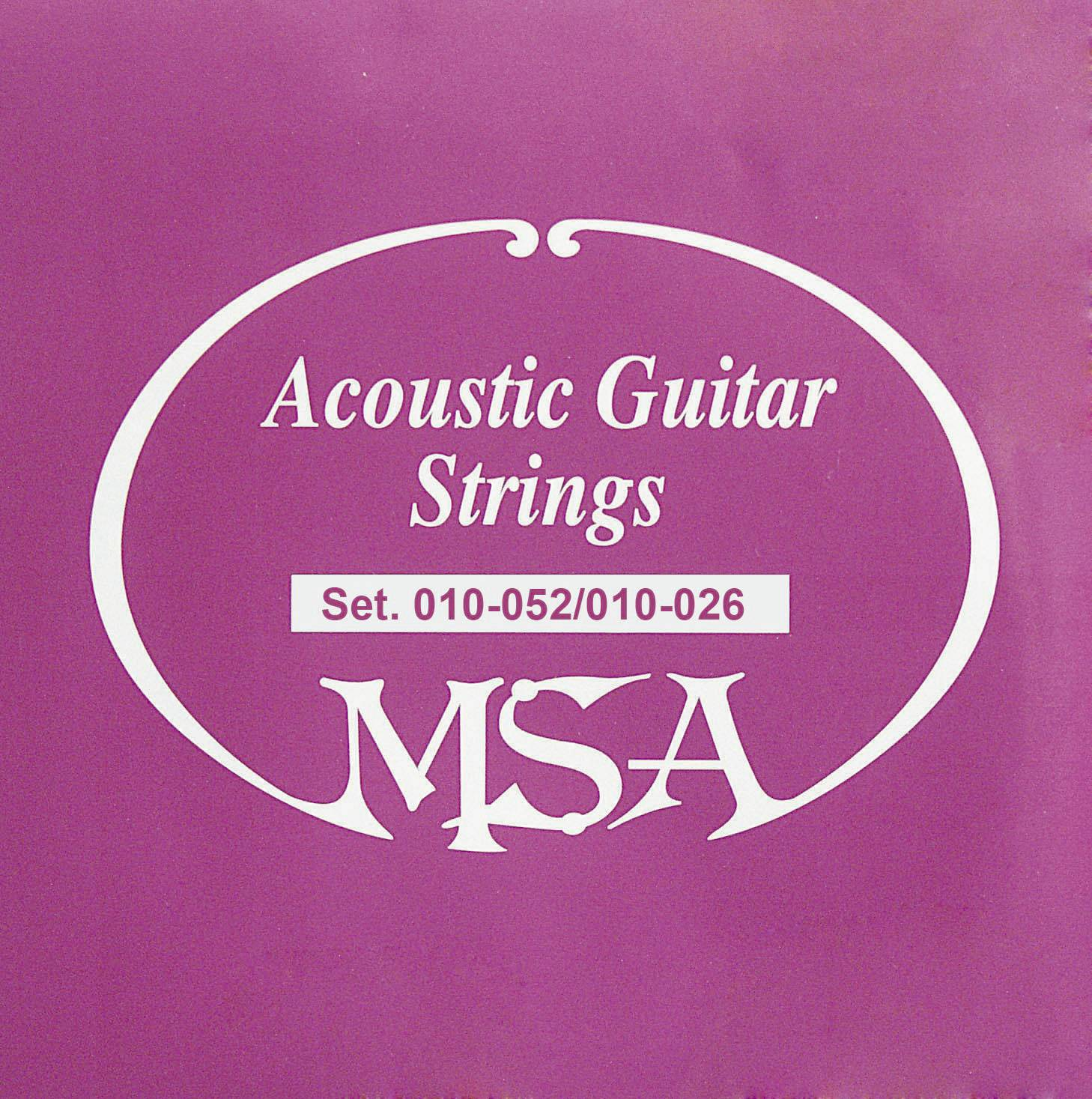 Struny na westernovou kytaru MSA, 009 - 047, 12 ks