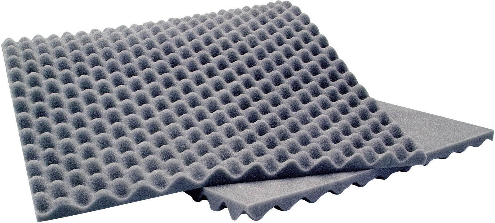 Akustická pena Sinuslive 10076, (d x š x v) 900 x 400 x 20 mm, polyuretán , sivá