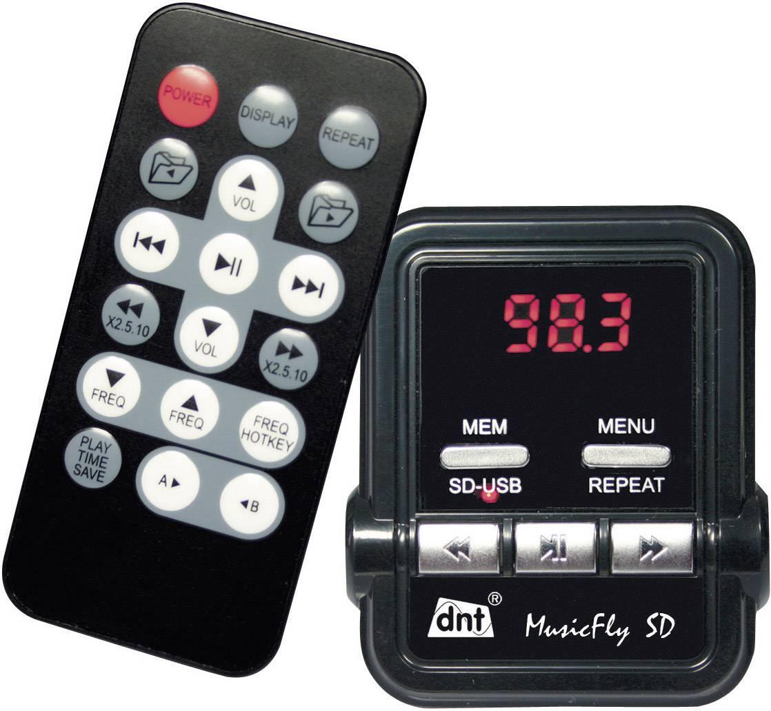 FM vysílač dnt MusicFly SD, dálkové ovládání, s MP3 přehrávačem