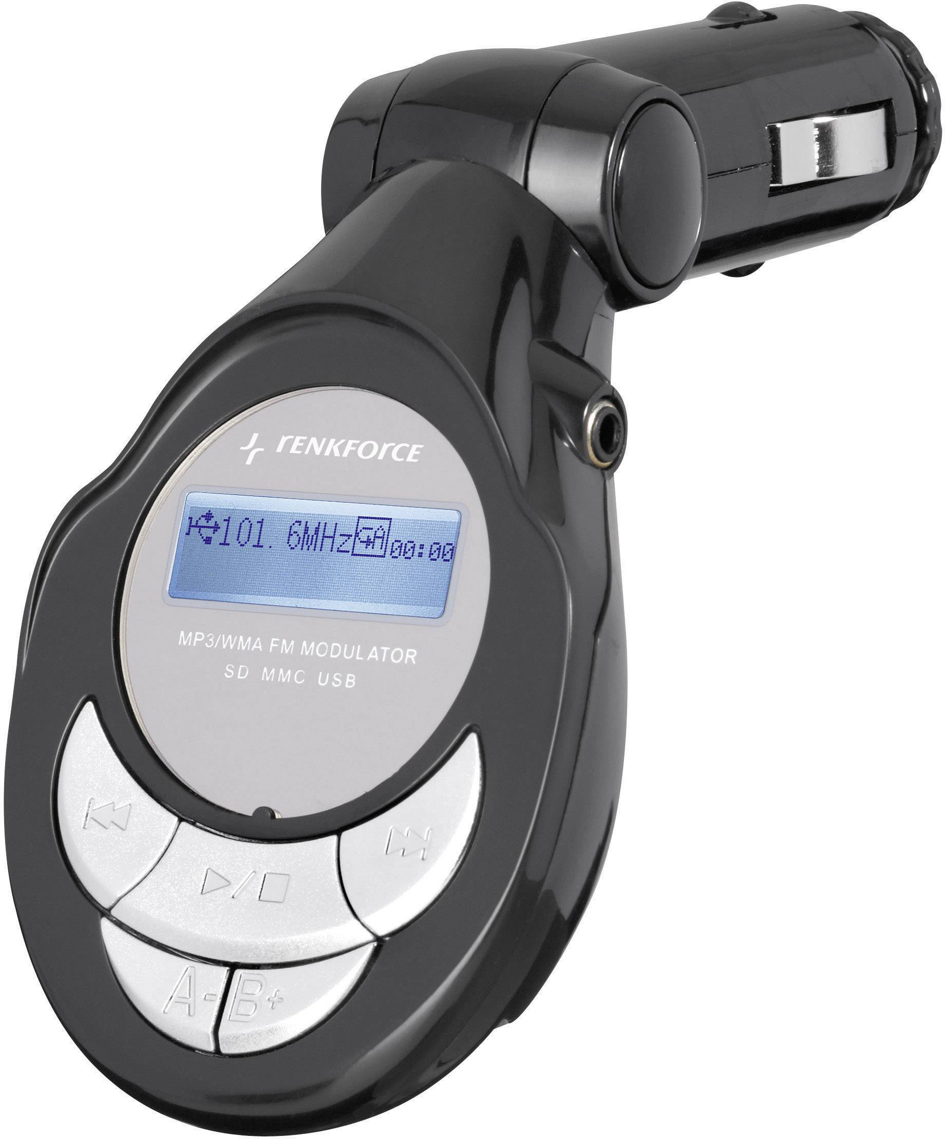 FM vysielač s MP3 prehrávačom a USB do autorádia, Renkforce 372241