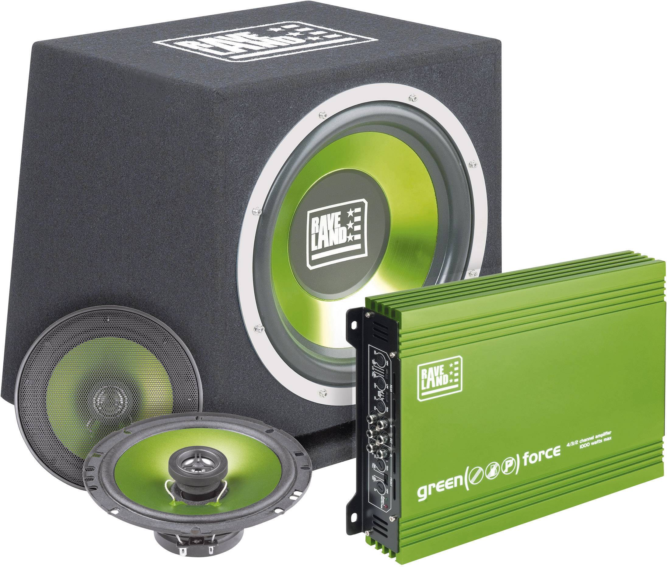 Hi-Fi sada do auta Raveland Green Force II, 4 x 250 W