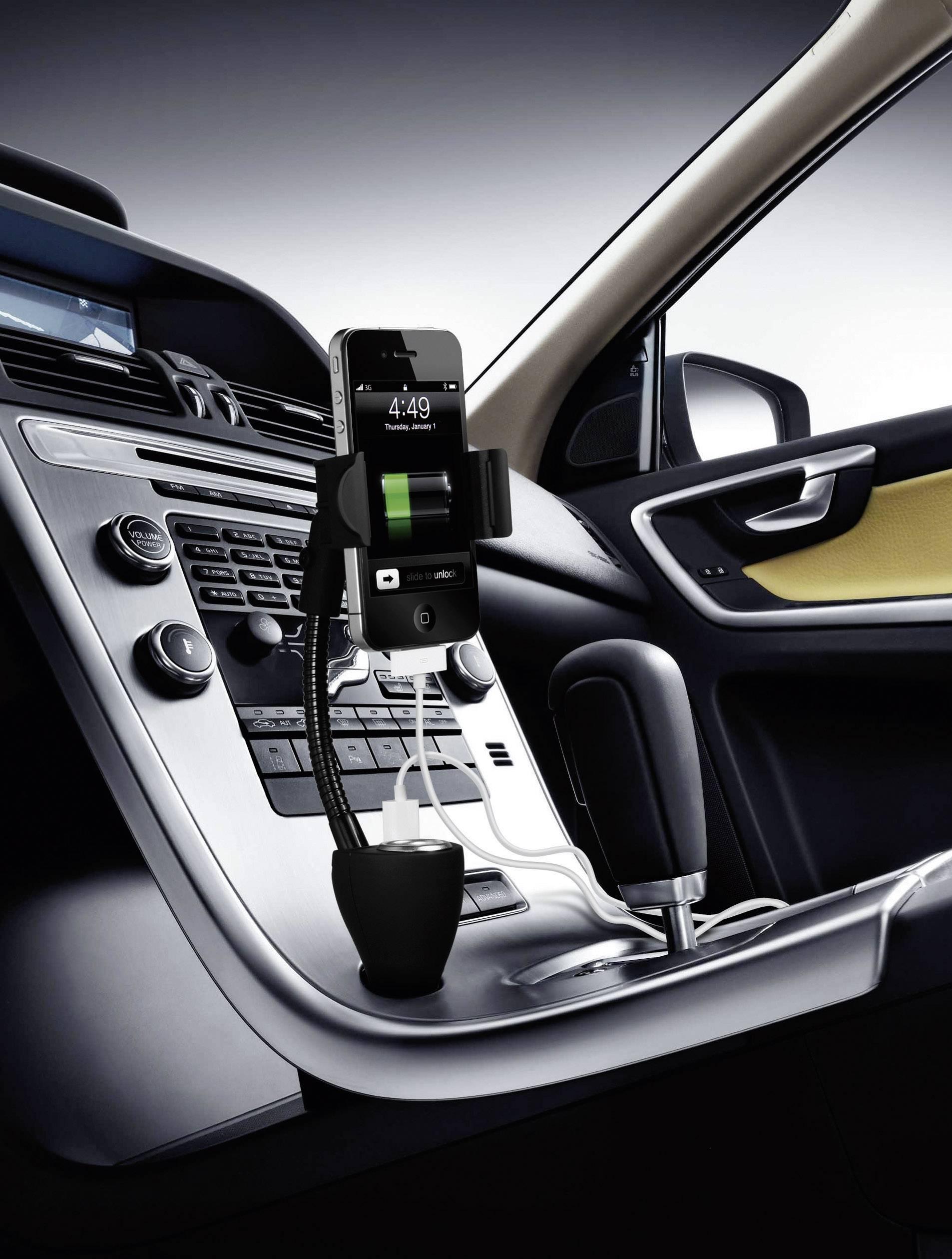 Univerzálna nabíjačka a držiak do auta Technaxx TE06