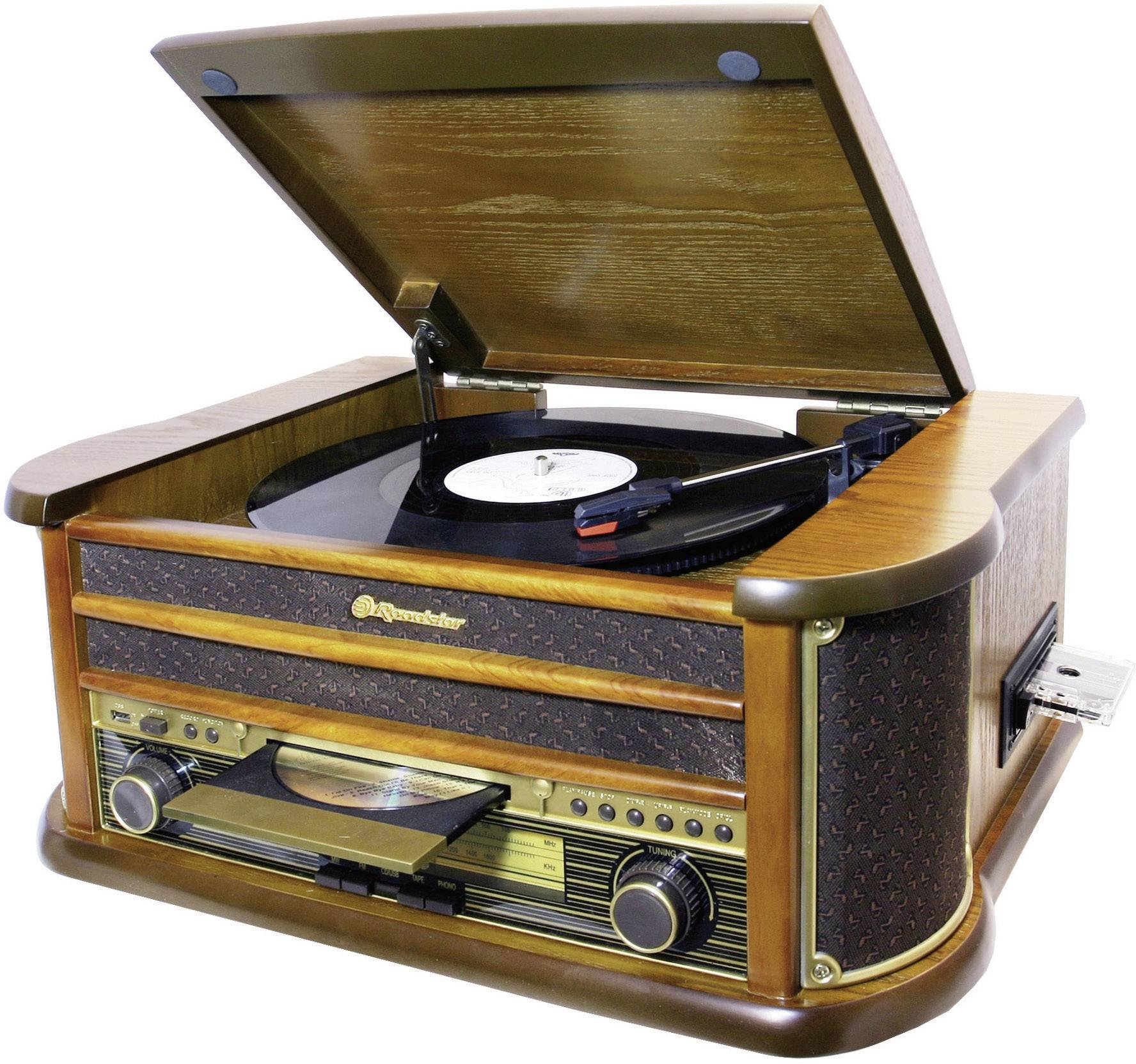 Retro USB gramofón s funkciou digitalizácie Roadstar HIF-1923TUMPK