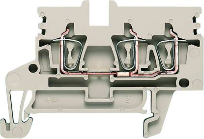 Z-series, Feed-through terminal, Rated cross-section: Tension clamp connection, Wemid, Dark Beige, ZDU 2.5N/3AN Weidmüller Množství: 50 ks