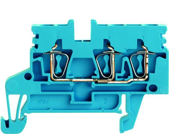 Z-series, Feed-through terminal, Rated cross-section: Tension clamp connection, Wemid, Blue, ZDU 2.5N/3AN BL Weidmüller Množství: 50 ks
