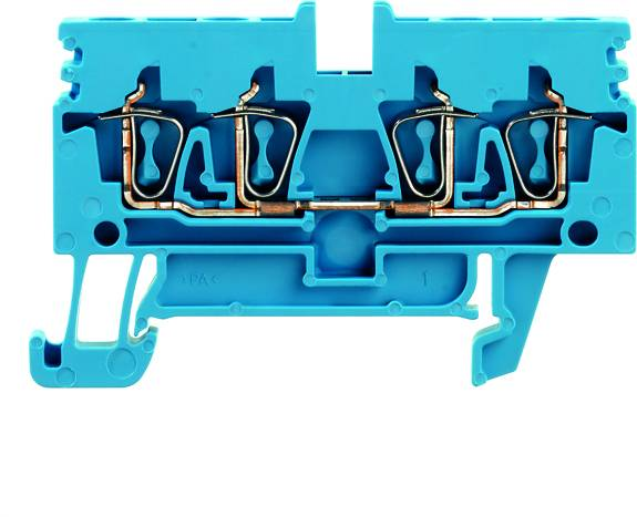 Z-series, Feed-through terminal, Rated cross-section: Tension clamp connection, Wemid, Blue, ZDU 2.5N/4AN BL Weidmüller Množství: 50 ks