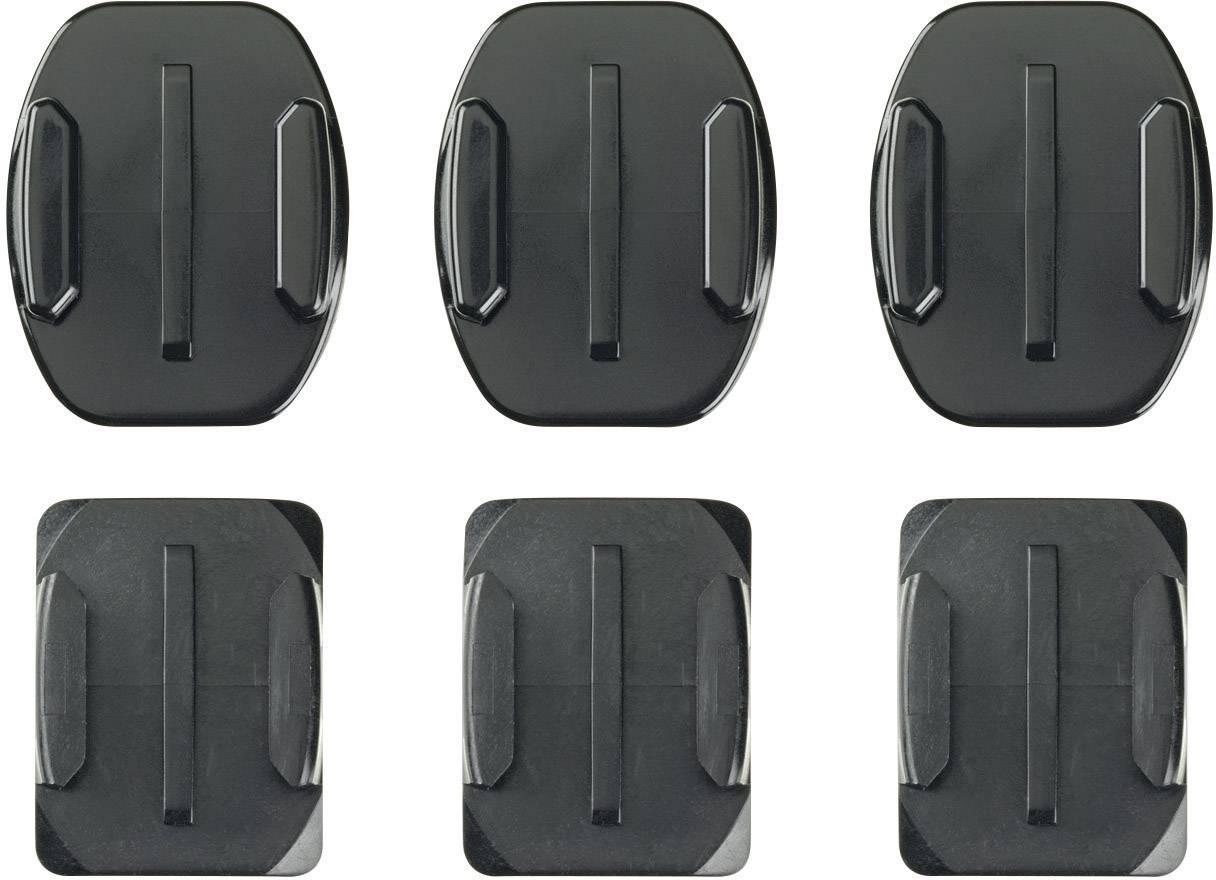 Nalepovací držáky pro kameru GoPro, 3 ks rovné + 3 ks zahnuté