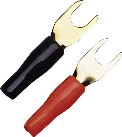 Vidlicové káblové oko Sinuslive KSI-4P10, Ø otvoru 5 mm, čierna, červená, 10 ks