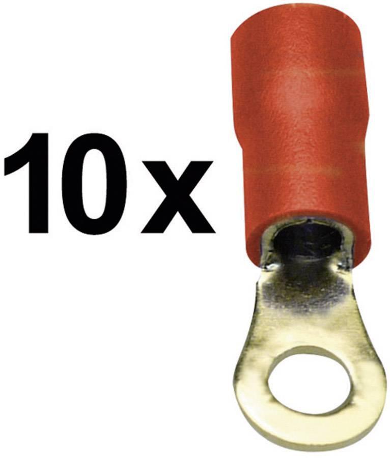Káblové očko Sinuslive RKS-1,5 P RKS-1,5 P, průřez 1.50 mm², průměr otvoru 4 mm, čiastočne izolované, červená, 10 ks