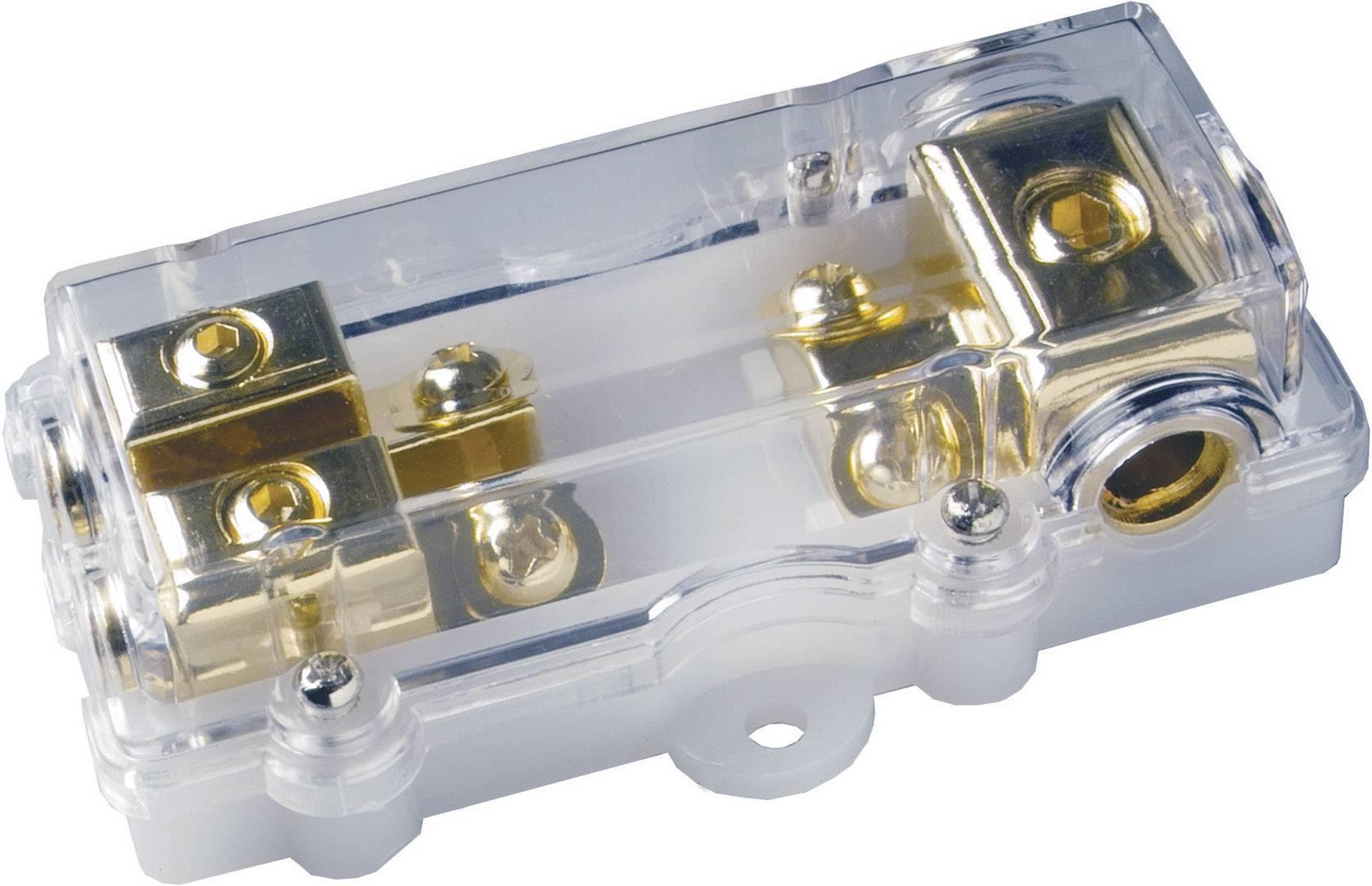 Držiak poistky pre HiFi - na sklo automobilu Sinuslive M-ANL-1/2, 80 A