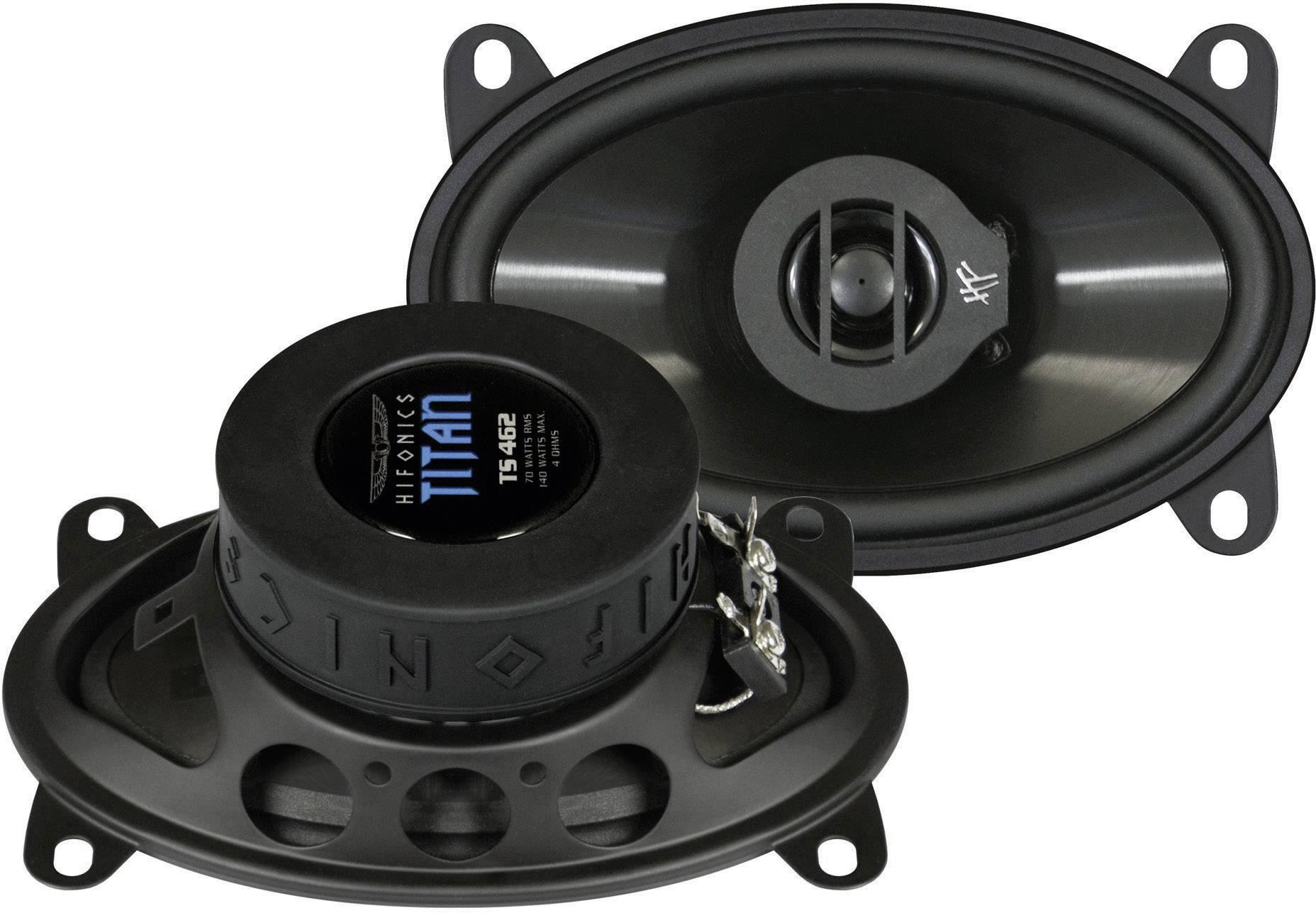2cestný koaxiálny zabudovateľný reproduktor Hifonics Titan 4x6, 140 W