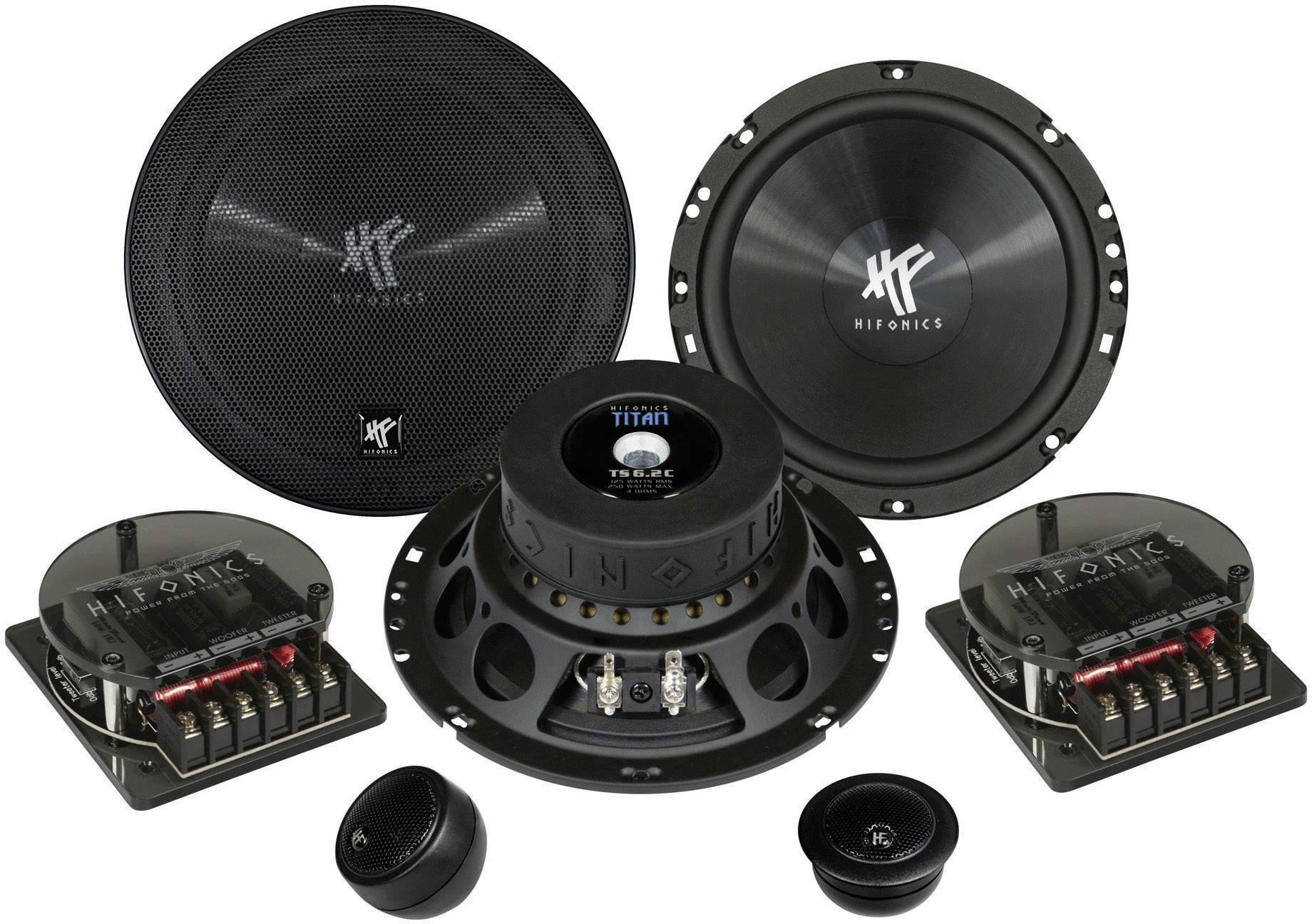 Sada 2cestných vstavaných reproduktorov Hifonics Titan, 250 W