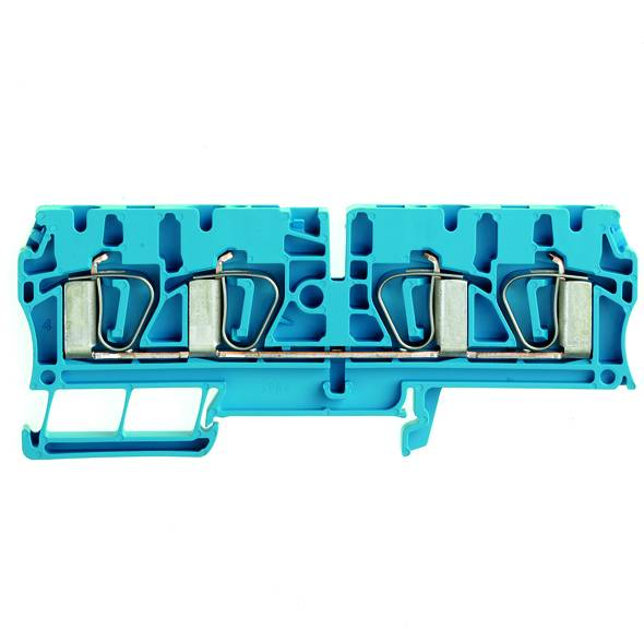 Z-series, Feed-through terminal, Rated cross-section: 4 mm², Tension clamp connection, Wemid, Blue, ZDU 4/4AN BL Weidmüller Množství: 50 ks