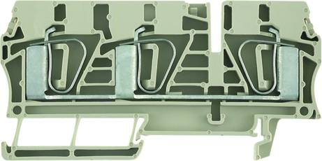 Z-series, Feed-through terminal, Rated cross-section: 6 mm², Tension clamp connection, Wemid, Dark Beige, ZDU 6/3AN Weidmüller Množství: 50 ks
