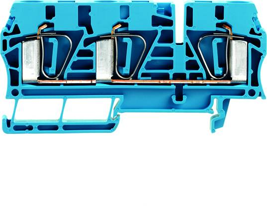 Z-series, Feed-through terminal, Rated cross-section: 6 mm², Tension clamp connection, Wemid, Blue, ZDU 6/3AN BL Weidmüller Množství: 50 ks