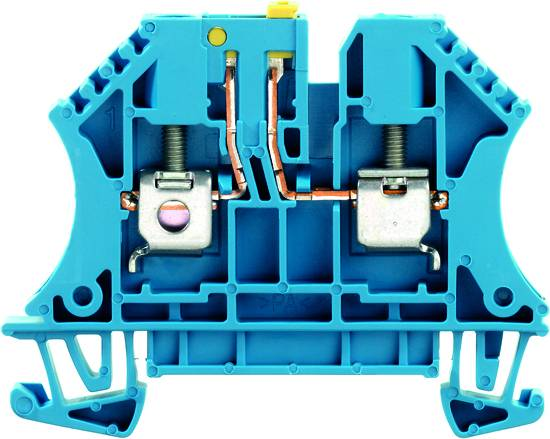 W-Series, Test-disconnect terminal, Rated cross-section: 4 mm², Screw connection WTR 4 BL Weidmüller Množství: 50 ks