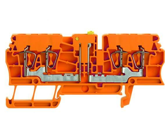 Zkušební oddělovací řadové svorky ZTR 2.5/4AN OR oranžová Weidmüller Množství: 100 ks