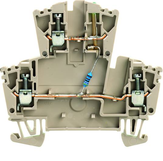Dvouřadá řadová svorka WDK 2.5 LD GR 1R 24VDC Weidmüller Množství: 25 ks