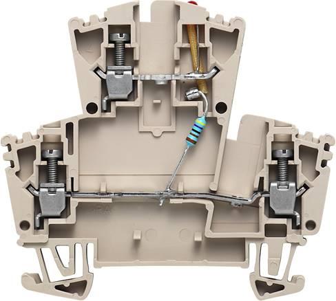 Dvouřadá řadová svorka WDK 2.5 LD RT 24VDC -+ Weidmüller Množství: 25 ks