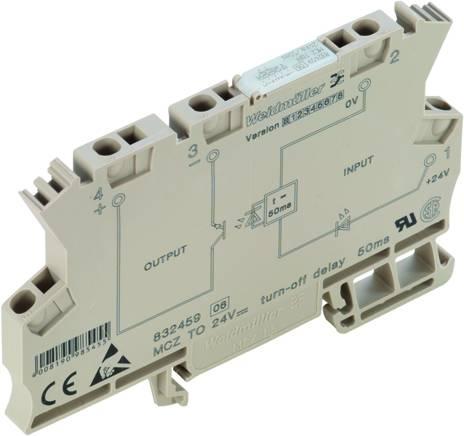 Monofunkční časové relé Weidmüller MCZ TO 24VDC/50MS, 24 V/DC, 1 spínací kontakt 10 ks