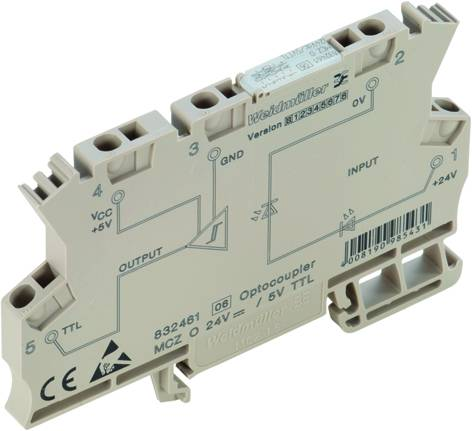 Polovodičové relé Weidmüller MCZ O 24VDC 8324610000, 8 mA, 10 ks