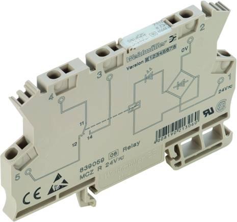 Vazební relé Weidmüller MCZ R 24VDC, 24 V/DC, 6 A, 1 přepínací kontakt, 10 ks