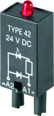 Zasouvací modul s diodou s LED diodou, S nulovou diodou Weidmüller RIM 2 6/24VDC Barva světla: červená vhodné pro sérii: Weidmüller řada RIDERSERIES RCL , 10 ks