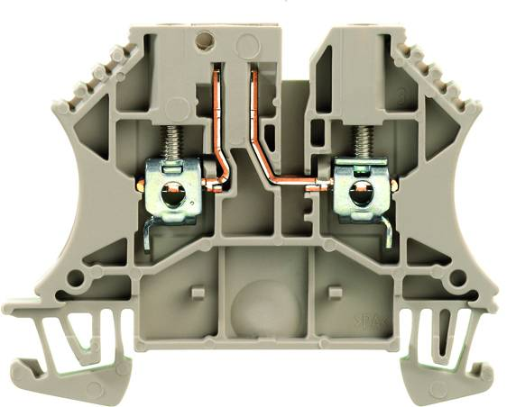 W-Series, Test-disconnect terminal, Rated cross-section: 2,5 mm², Screw connection, Direct mounting WTR 2.5/O.TNHE STB2.3 Weidmüller Množství: 100 ks
