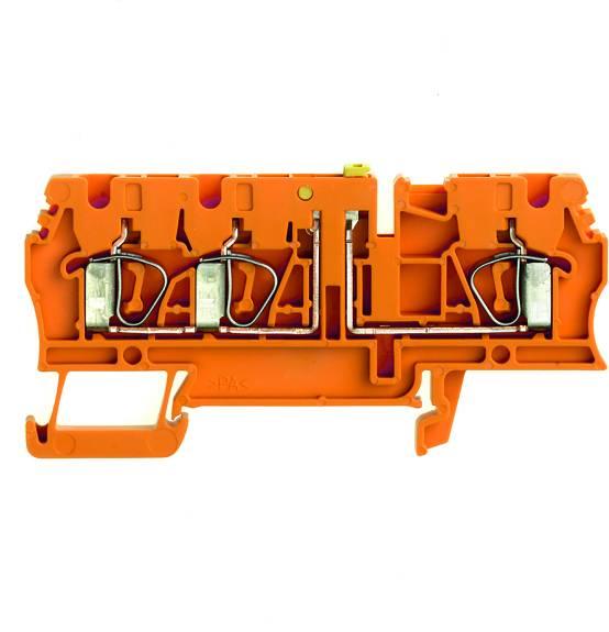 Zkušební oddělovací řadové svorky ZTR 2.5/3AN OR oranžová Weidmüller Množství: 100 ks