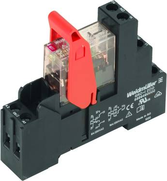 RIDERSERIES, Relays, No. of contacts: 2, CO contact, AgNi 90/10, Rated control voltage: 24 V AC, Continuous current: 8 A, Screw connection Weidmüller RCIKIT 24VAC 2CO LED, 24 V/AC, 8 A, 2 přepínací kontakty