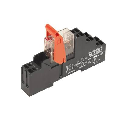 RIDERSERIES, Relays, No. of contacts: 2, CO contact, AgNi 90/10, Rated control voltage: 24 V AC, Continuous current: 8 A, PUSH IN spring connection Weidmüller RCIKITP 24VAC 2CO LD, 24 V/AC, 8 A, 2 přepínací kontakty