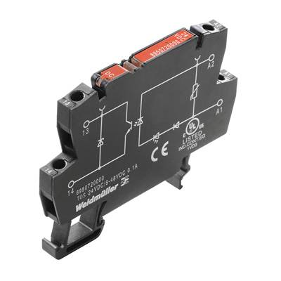 Opto vazebné relé Weidmüller TOS 110VDC/48VDC 0,1A 8950740000, 10 ks