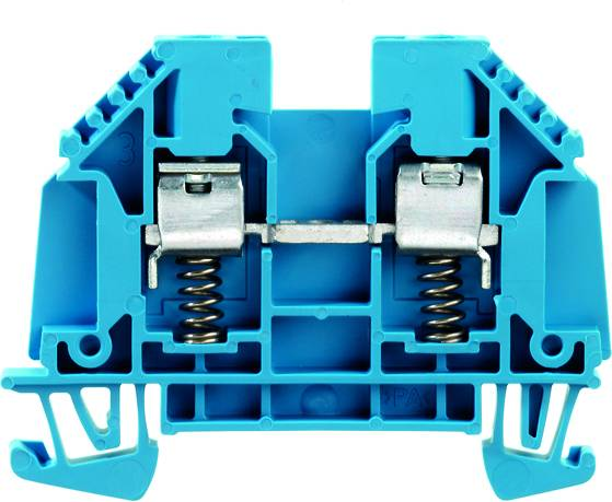 W-terminal with external tensioning, Feed-through terminal, Rated cross-section: 4 mm², Screw connection, WDU 4 SL BL Weidmüller Množství: 50 ks