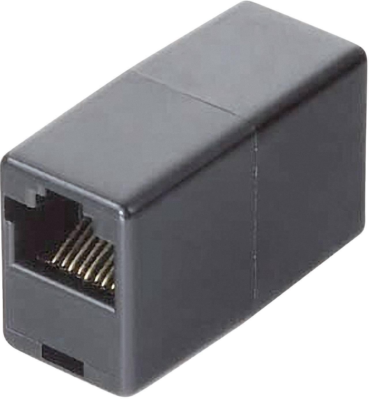 RJ45 adaptér Hama 44890, 0.10 m, černá