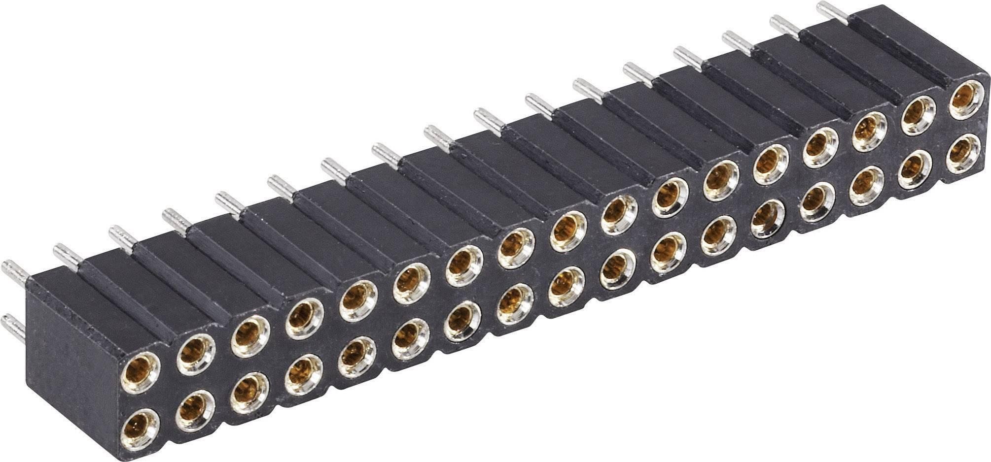 Zásuvková lišta (precízna) BKL Electronic 10120809, řádky 2, kontakty na řádek 10, 1 ks