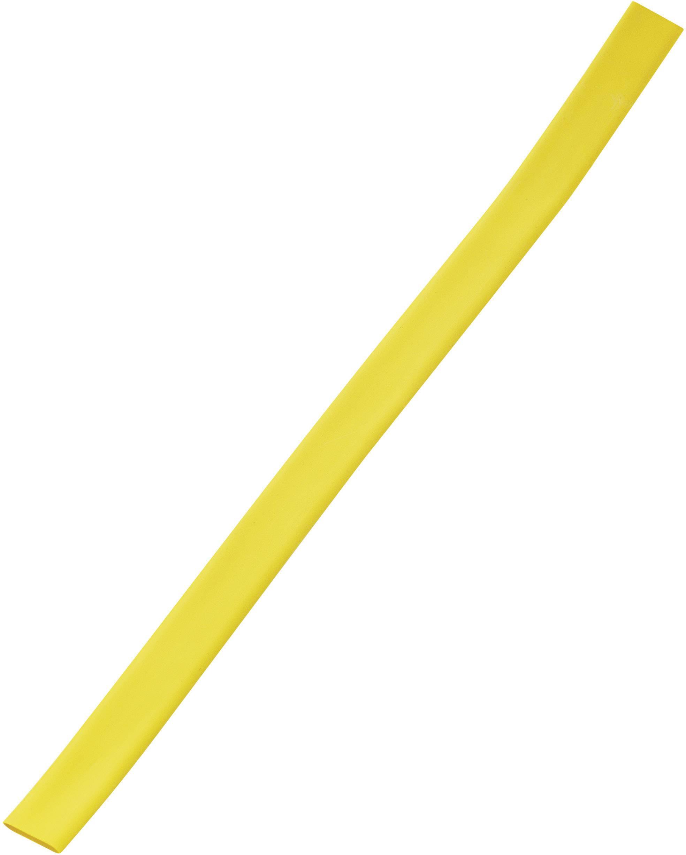 Tenkostenná zmršťovacia bužírka / ø pred / po zmrštení: 18 mm / 6 mm, žltá
