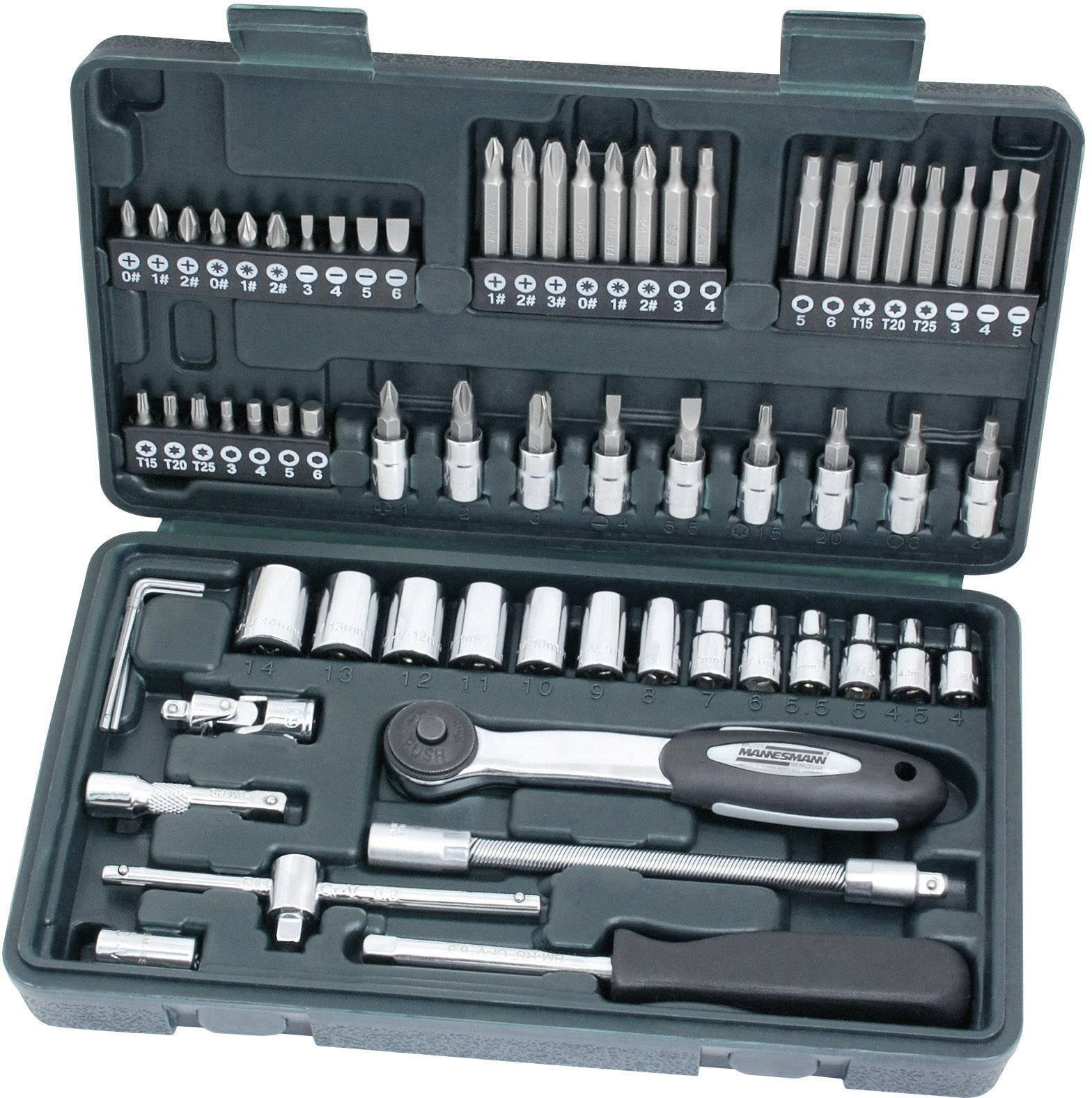 65- dielna sada kľúčov Mannesmann 6,3 mm (1/4)