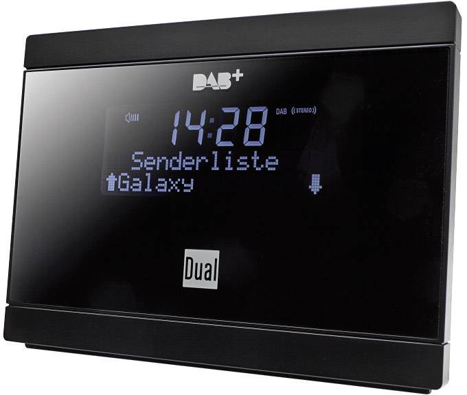 DAB+, FM rádio s výstupom bez reproduktorov Dual DAB 2A, DAB+, UKW, čierna
