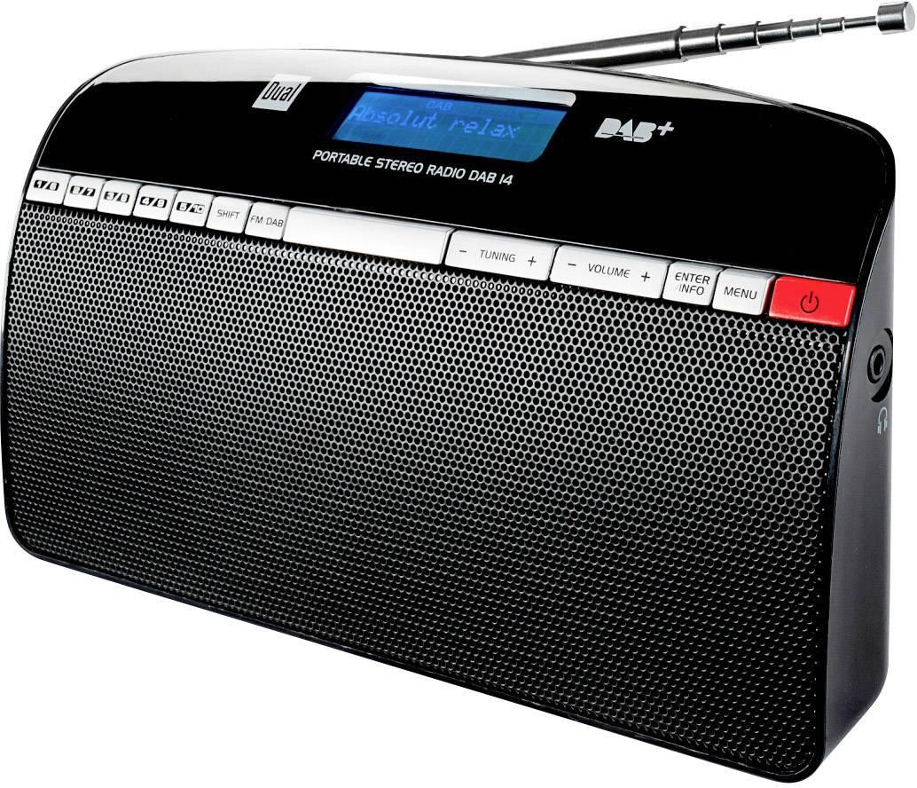 DAB+ rádio Dual DAB 14, FM, stříbrná