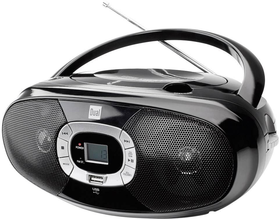 FM rádio s CD prehrávačom Dual P 390, CD, MW, UKW, USB, čierna