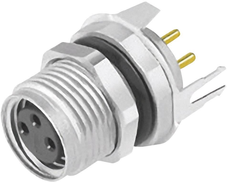 Zabudovateľný zástrčkový konektor pre senzory - aktory Binder 09 3420 81 04, 1 ks