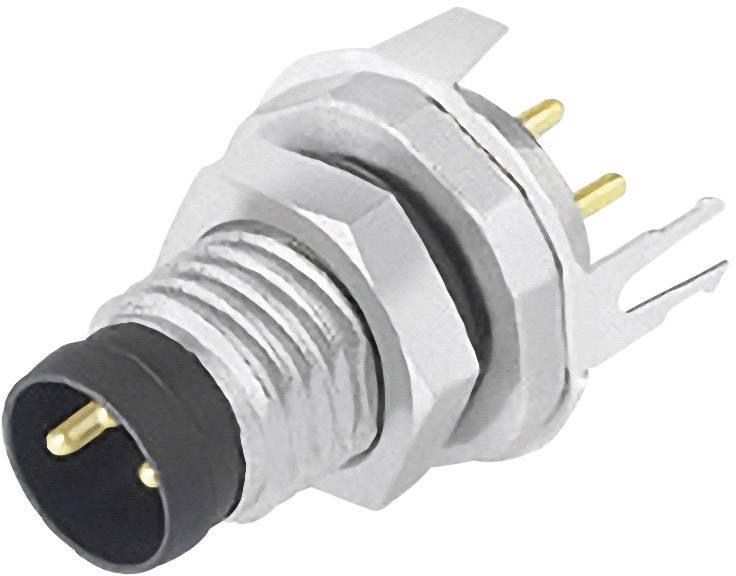 Zabudovateľný zástrčkový konektor pre senzory - aktory Binder 09 3421 81 04, 1 ks