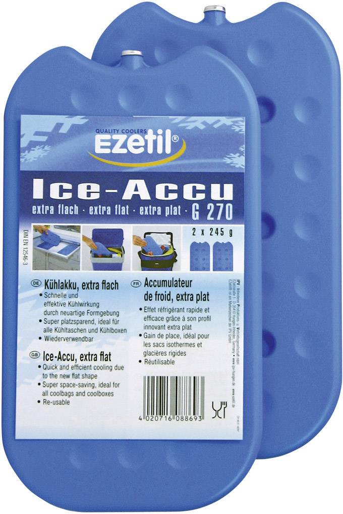 Chladicí náplně do termotašek Ezetil G270, 2 x 245 g