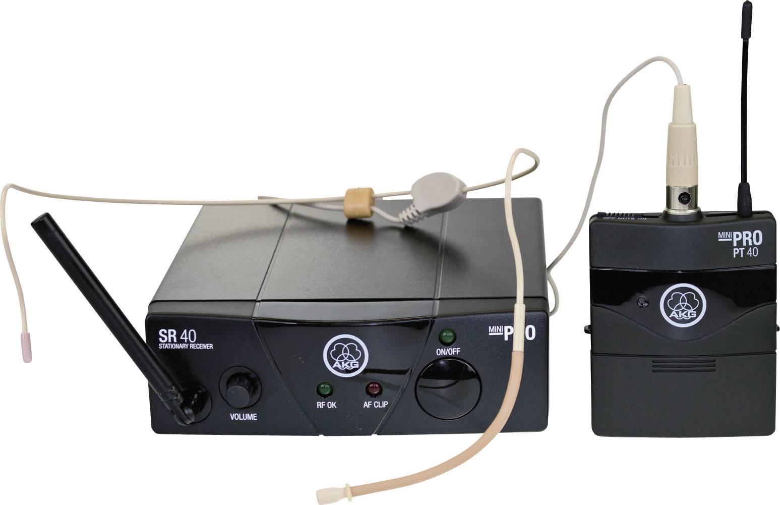 Bezdrôtový sada bezdrôtového mikrofónu headset AKG WMS40 Mini Sport Set ISM 1 WMS40 Mini Sport