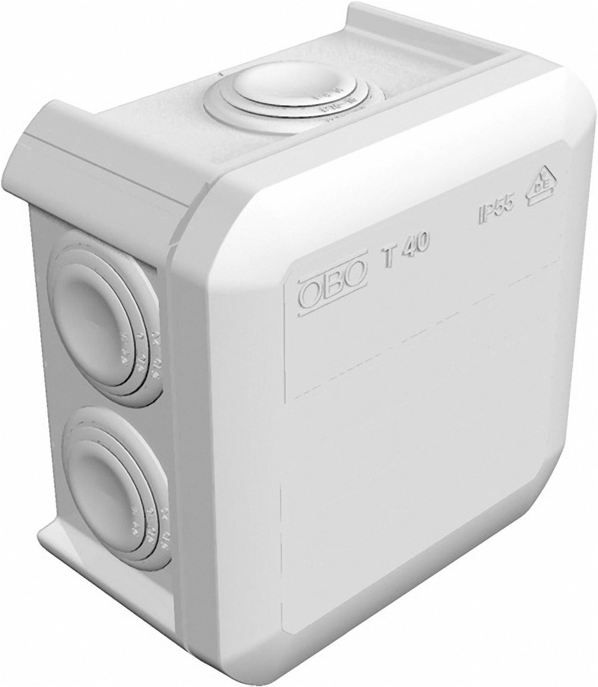 Rozbočovací krabice, OBO Bettermann 2007045, světle šedá