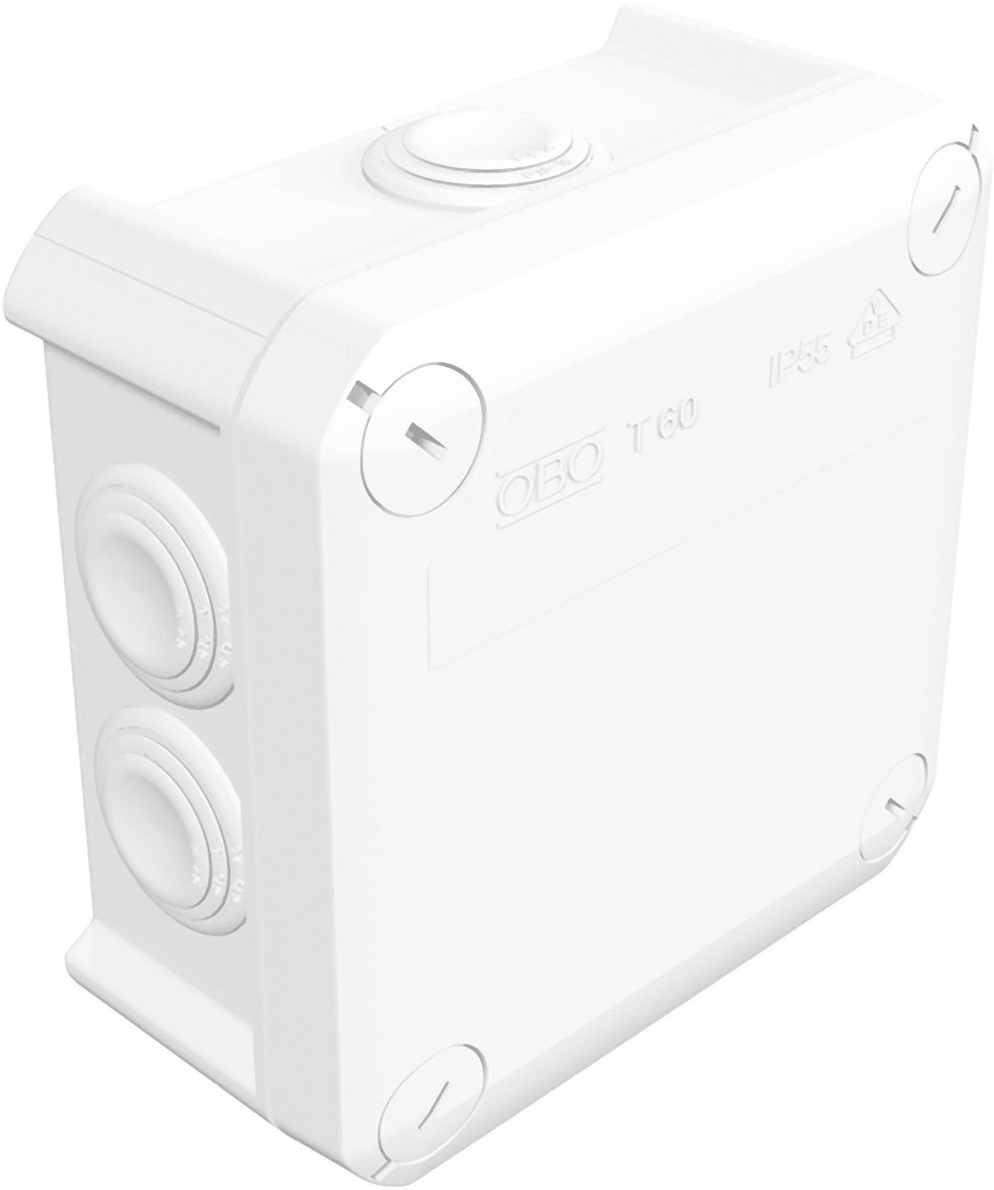 Rozbočovacia krabica OBO Betternann T60, IP55, 114 x 114 x 57 mm, jasne biela, 2007525