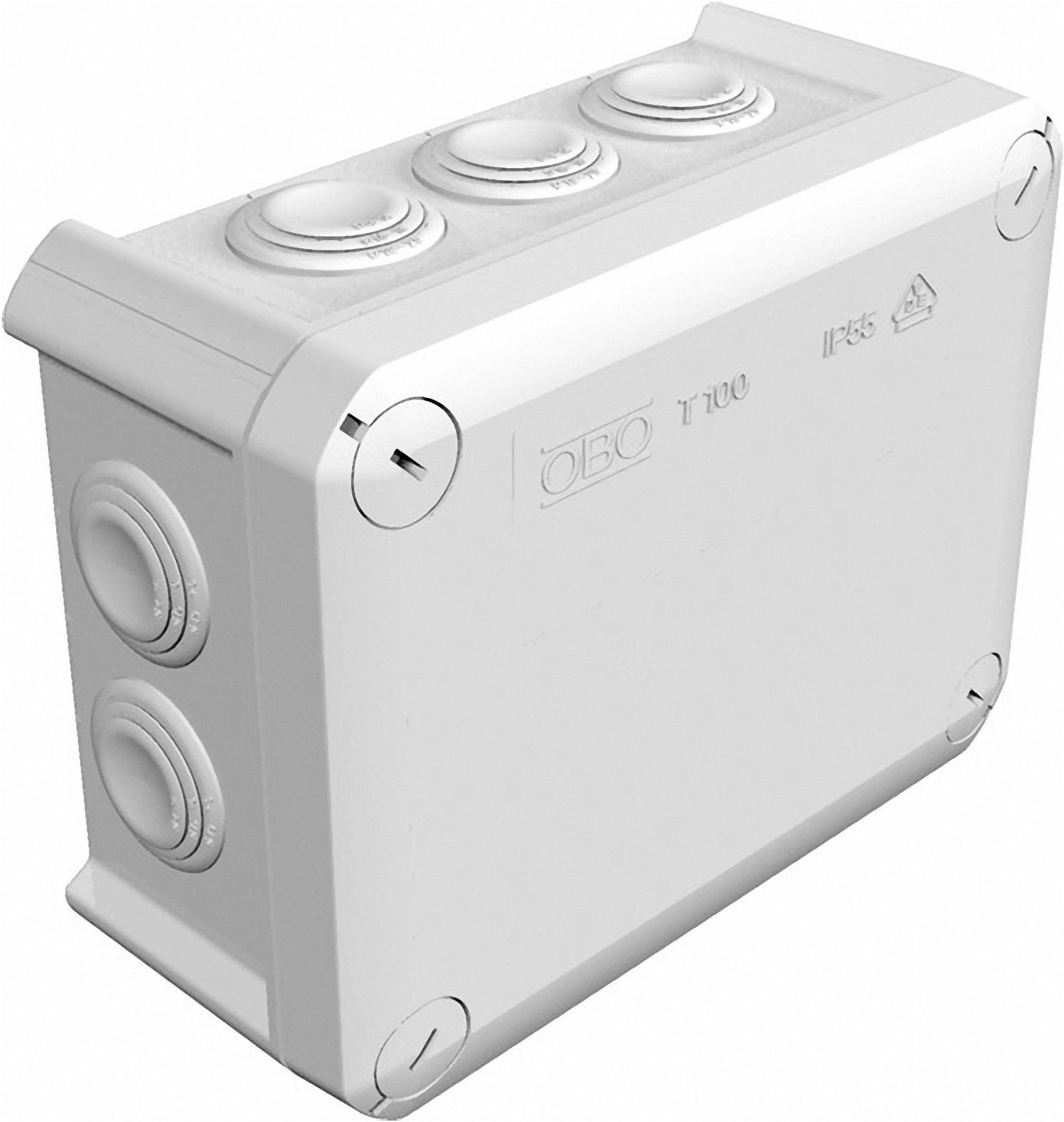Rozbočovací krabice, OBO Bettermann 2007077, světle šedá